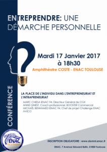 ENTREPRENDRE : UNE DÉMARCHE PERSONNELLE @ École nationale de l'aviation civile | Toulouse | Occitanie | France