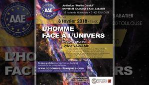 """Conférence """"L'homme face à l'Univers"""" par Sylvie Vauclair Auditorium """"Marthe Condat"""" de l'Université Toulouse"""