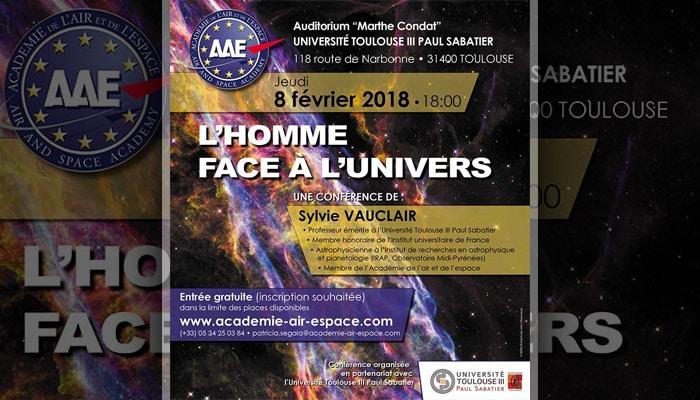 """Conférence """"L'homme face à l'Univers"""" par Sylvie Vauclair"""