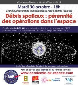 Débris spatiaux : pérennité des opérations dans l'espace par Christophe Bonnal @ Grand auditorium de la Médiathèque José Cabanis - Toulouse | Toulouse | Occitanie | France