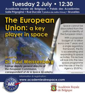 The European Union: a key player in space @ Palais des Académie