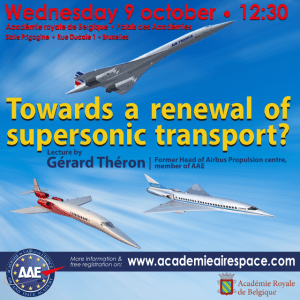 Lecture: Towards a renewal of supersonic transport? @ Académie royale de Belgique