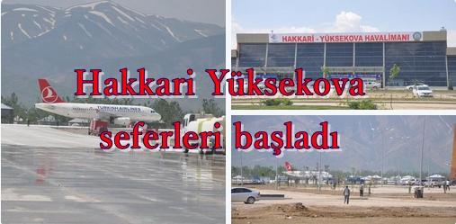 Türk Hava Yolları Hakkari Yüksekova seferleri başladı