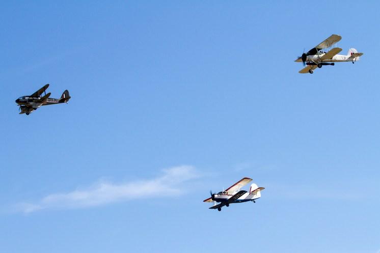 © Adam Duffield • Duxford Air Show 2012 • Duxford Airfield, UK • AN-2, DH-89A and Swordfish
