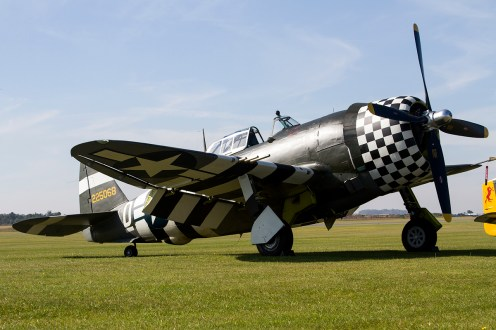 © Adam Duffield • Duxford Air Show 2012 • Duxford Airfield, UK • P-47G - G-CDVX