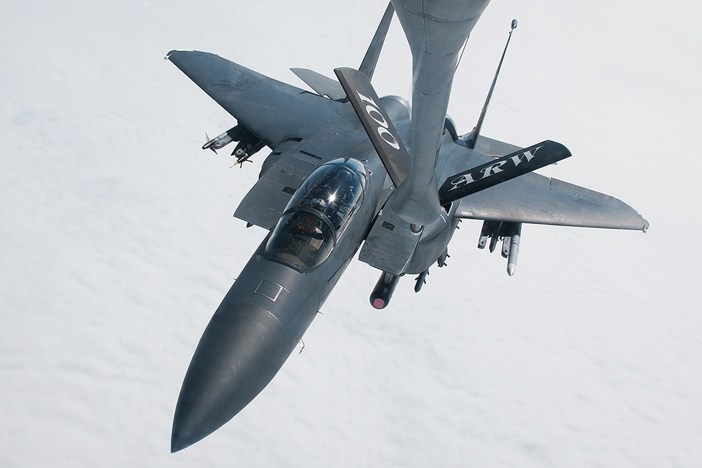 © Michael Buckle - Boeing F-15E Strike Eagle • United States Air Force • 100thARW Aerial Refuelling Sortie