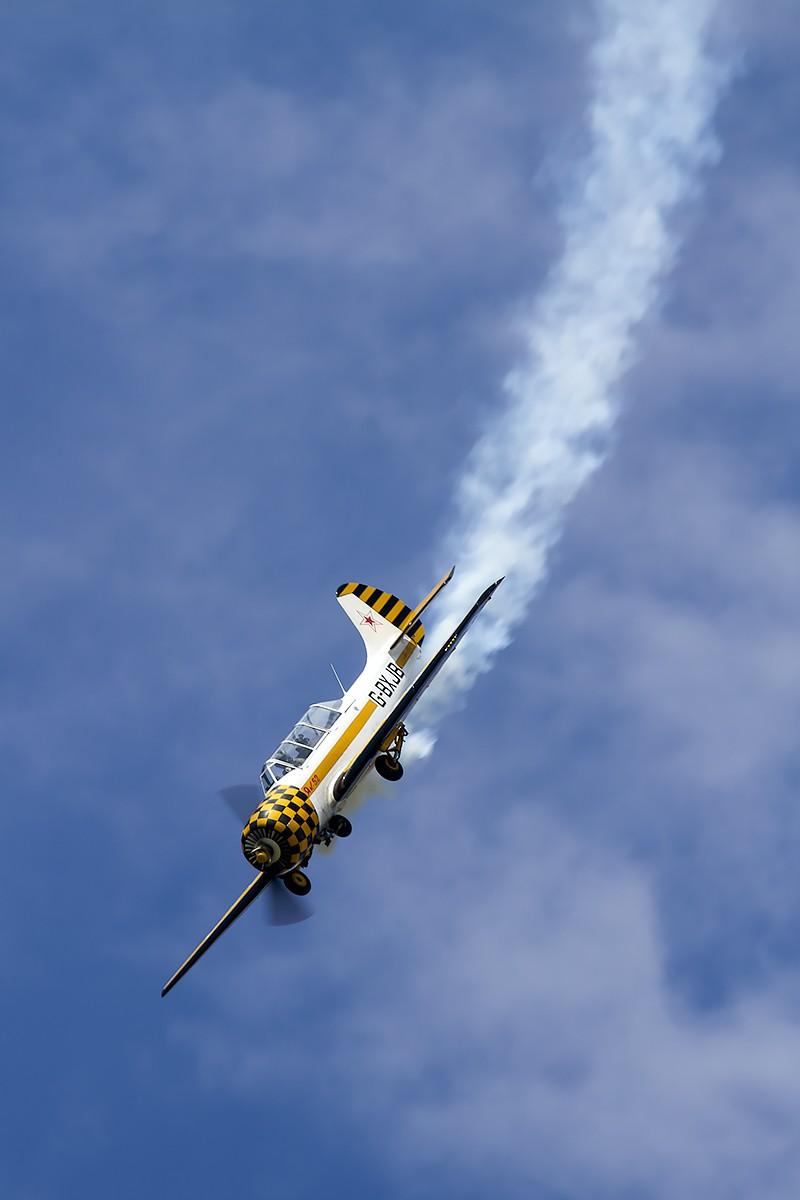 © Adam Duffield • Yakovlev Yak-52 G-BXJB • Old Buckenham Airshow 2014