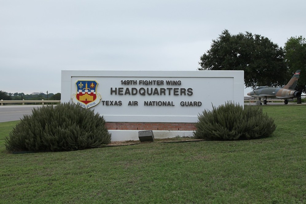 © Mark Forest • 149th Fighter Wing Main Entrance • 149th Fighter Wing