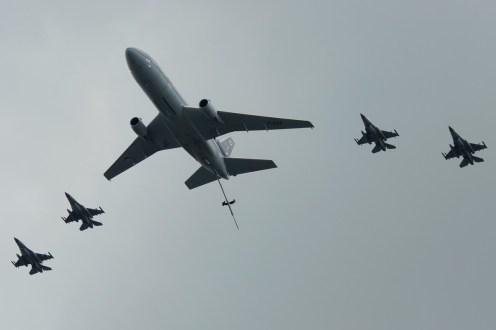 © Jamie Ewan • RNLAF KDC-10 & F-16 Formation • Luchtmachtdagen 2014