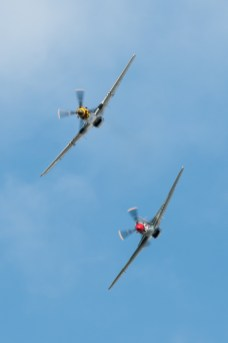 © Duncan Monk • North American P-51D Mustang Pair • Duxford VE Day 70th Anniversary Airshow