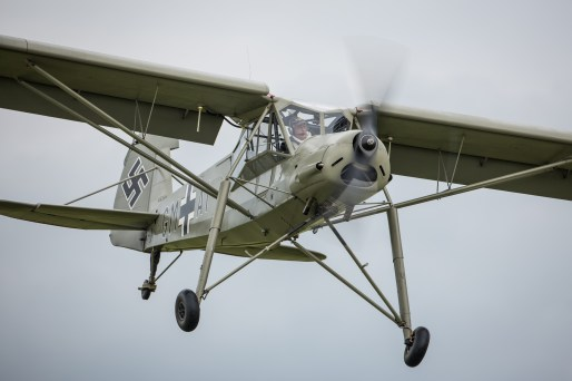 © Harry Measures • Fieseler Storch GM+AI • Duxford VE Day 70th Anniversary Airshow