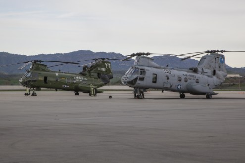 © Jason Grant • Boeing Vertol CH-46E Sea Knight 155306 & 153369 • Marine Corps Base Camp Pendleton