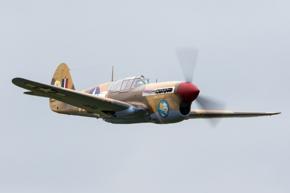 © Adam Duffield • Curtiss P-40F Warhawk • Duxford VE Day 70th Anniversary Airshow