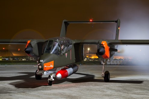 © Adam Duffield • North American Aviation OV-10B Bronco '99+18' G-ONAA • Northolt Nightshoot XVII