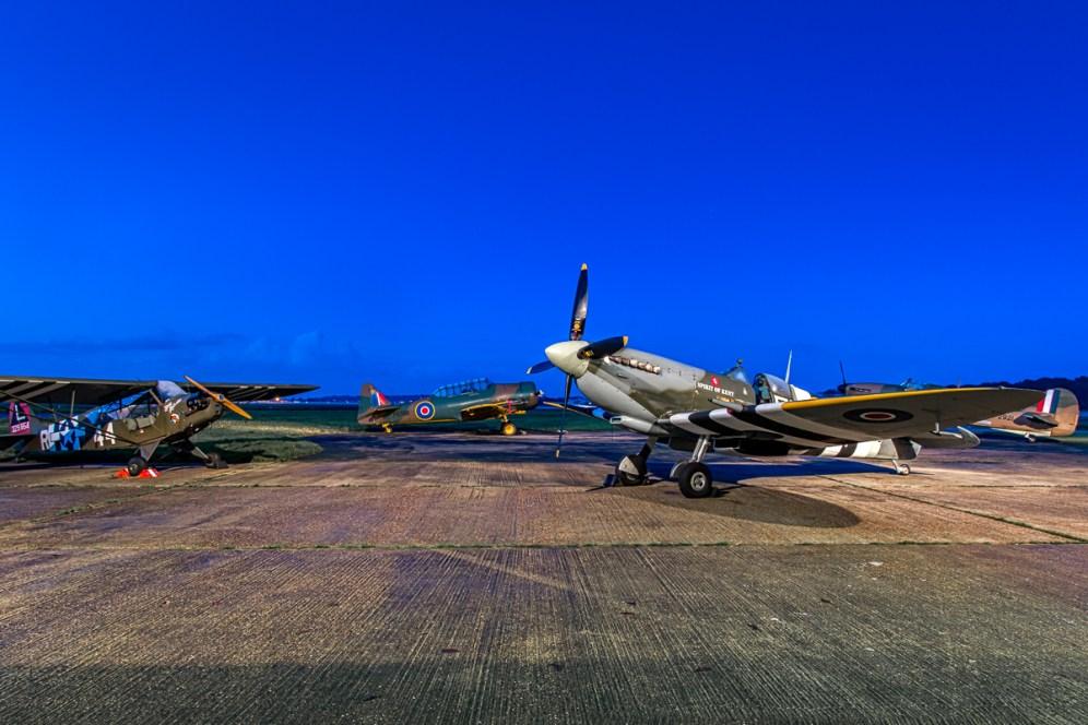 © Paul Smith • BHHH Nightshoot Lineup • Biggin Hill Heritage Hangar Nightshoot