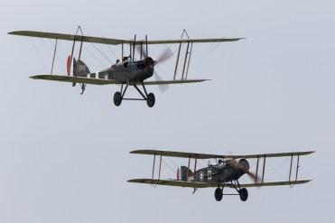 © Adam Duffield • Bristol F2B & Royal Aircraft Factory BE2e • Duxford VE Day 70th Anniversary Airshow