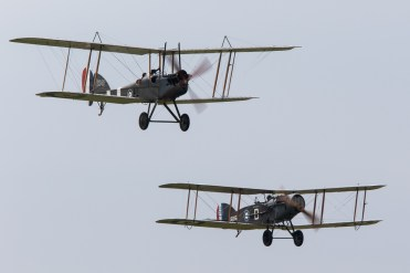 © Adam Duffield • Bristol F2B & Royal Aircraft Factory BE2e • Duxford VE Day 70th Anniversary Airshow