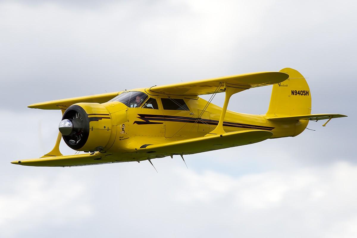 © Adam Duffield • Beechcraft D17S Staggerwing N9405H • Old Buckenham Airshow 2014
