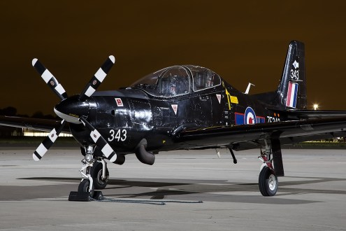 © Adam Duffield • Short Tucano T1 ZF343 • Northolt Nightshoot XVII