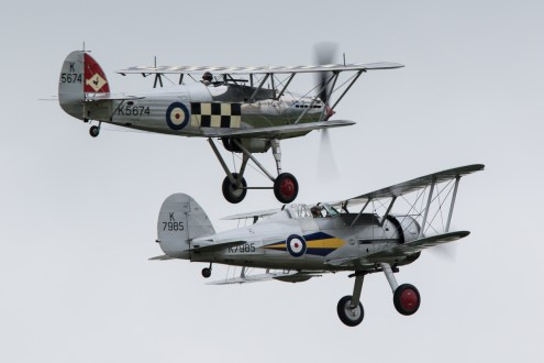 © Adam Duffield • Gloster Gladiator & Hawker Fury • Duxford VE Day 70th Anniversary Airshow