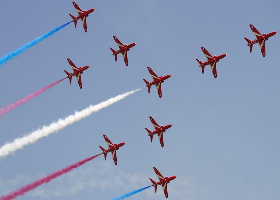 © Adam Chittenden • The Red Arrows - Waddington International Airshow 2013