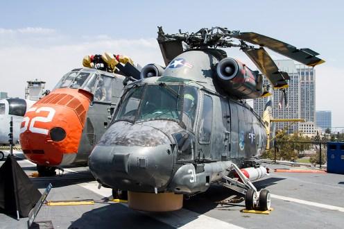© Adam Duffield • Sikorsky HSS-1 Seabat 143939 & Kaman SH-2F Seasprite 150157 • USS Midway Museum