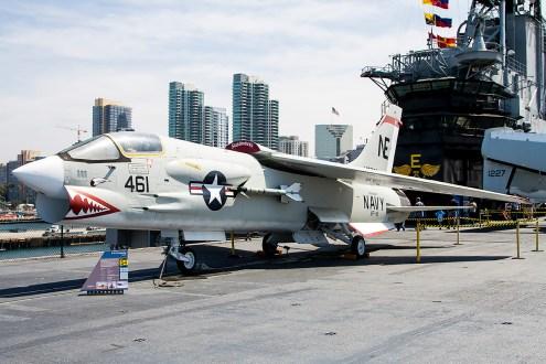 © Adam Duffield • Vought F-8K Crusader 147030 • USS Midway Museum