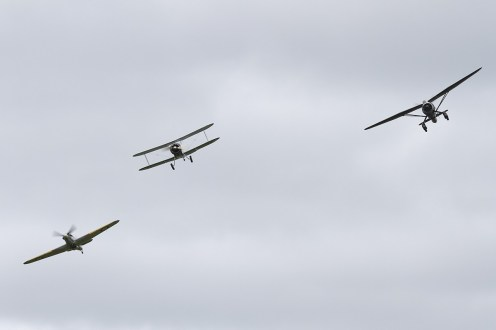 © Adam Duffield • 1930s Aircraft Formation • Shuttleworth LAA Party in the Park