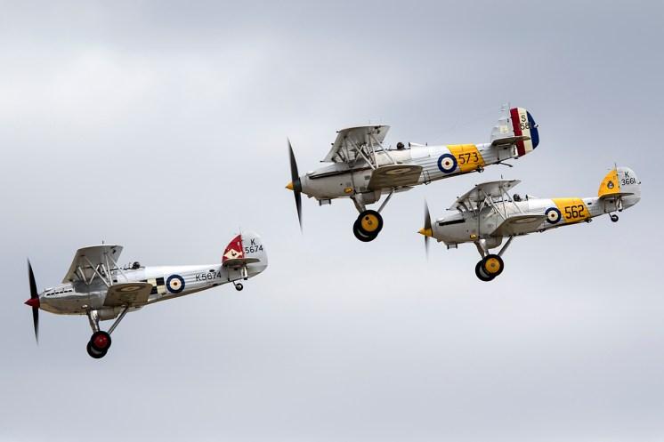 © Adam Duffield • Hawker Biplane Formation • Flying Legends 2015