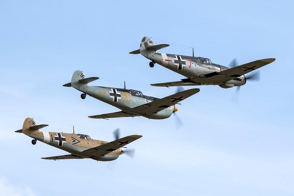 © Adam Duffield • Bf109 trio • Flying Legends 2015