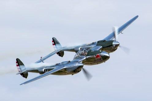 © Adam Duffield • Lockheed P-38 Lightning N25Y • Flying Legends 2015