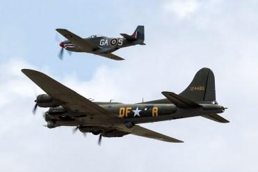 © Adam Duffield • B-17G 'Sally B' and P-51D G-SHWN • Flying Legends 2015