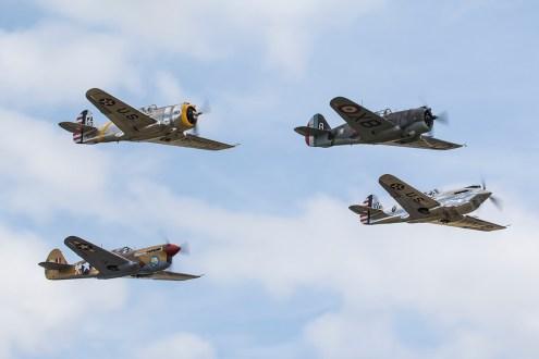 © Adam Duffield • Curtiss aircraft formation • Flying Legends 2015