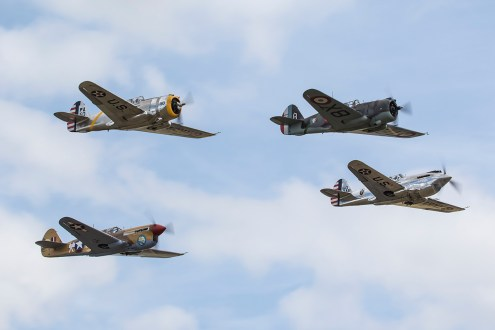 © Adam Duffield • Curtiss aircraft formation • Flying Legends 2015