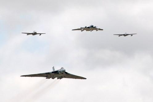 © Duncan Monk • Avro Vulcan 'V-Jet' Formation Flypast • RNAS Yeovilton Air Day 2015
