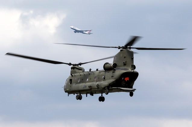 © Adam Duffield • RAF Chinook Display • Red Bull Air Race - Ascot
