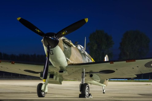 © Harry Measures • Supermarine Spitfire • RAF Coningsby Nightshoot