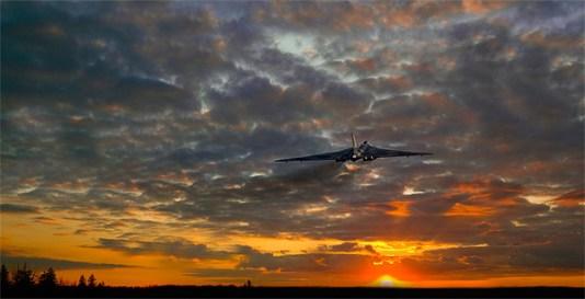 © J. Biggadike/Airpower Art - Vulcan Gets airborne at Robin Hood Airport - Vulcan XH558 Image Wall
