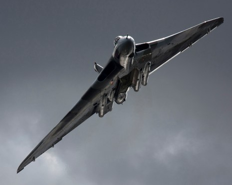 © Jim Simpson - Taken at Leuchars in 2010 with the light catching the leading edges - Vulcan XH558 Image Wall