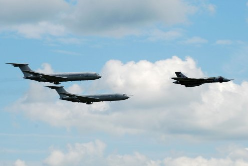 © Michael Wise - In formation with 2 VC10s of 101 sqn at RAF Brize Norton families' day 2009 - Vulcan XH558 Image Wall