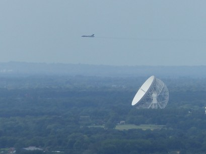 © Stan Egerton - Vulcan and Jodrell Bank, taken from Mow Cop about 12 -15 miles away - Vulcan XH558 Image Wall