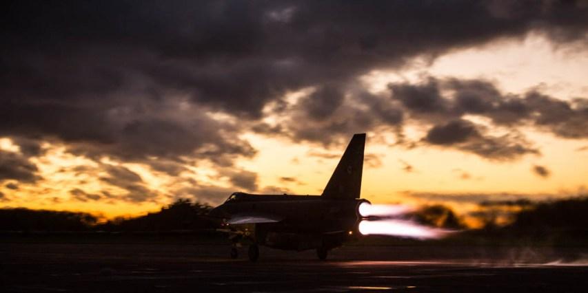 © Harry Measures - English Electric Lightning F.6 - Lightning Preservation Group Twilight Run
