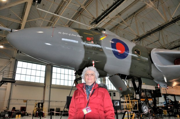 © Mark Bridges - Sylvia Bridges with XH558 in February 2013 at Doncaster - Vulcan XH558 Image Wall