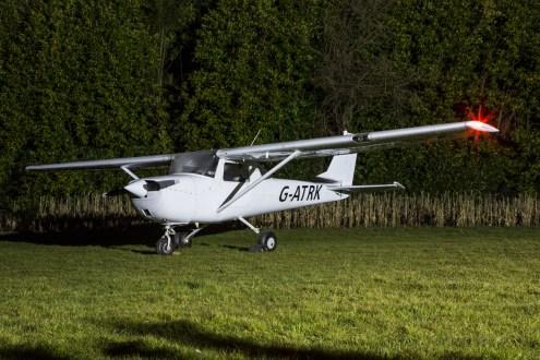 © Adam Duffield - Cessna 150F G-ATRK - Bourne Park Nightshoot 2