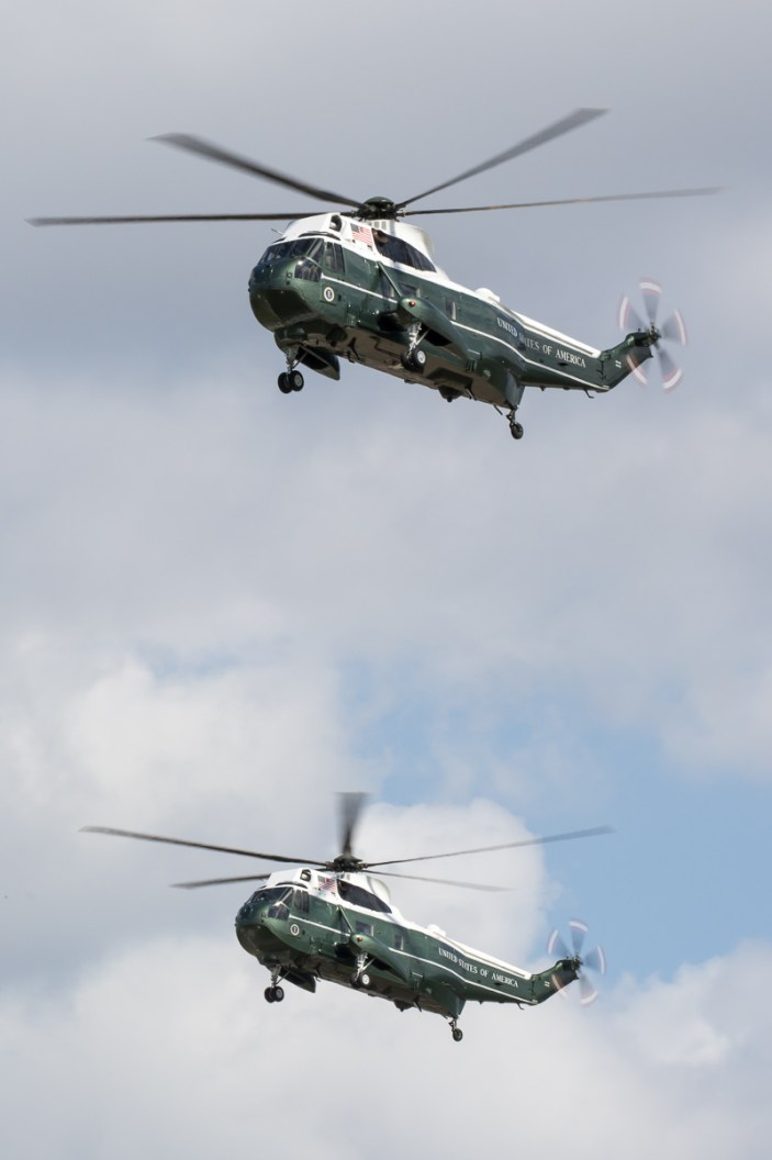 © Adam Duffield - Sikorsky VH-3D Sea Kings 159352 & 159356 – HMX-1 Presidential Helicopters at RAF Mildenhall