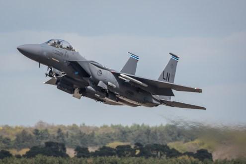 © Harry Measures - McDonnell Douglas F-15E Strike Eagle - F-22 Raptor Deployment to RAF Lakenheath