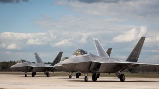 © Harry Measures - Raptors prepare for another sortie - F-22 Raptor Deployment to RAF Lakenheath