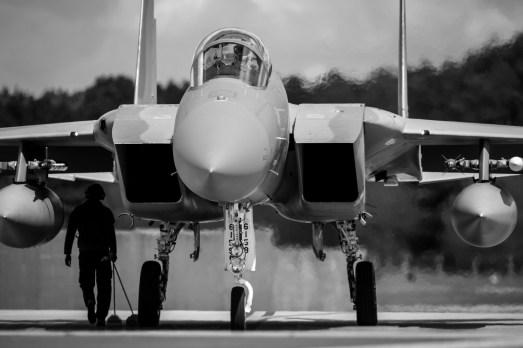 © Harry Measures - McDonnell Douglas F-15C Eagle - F-22 Raptor Deployment to RAF Lakenheath