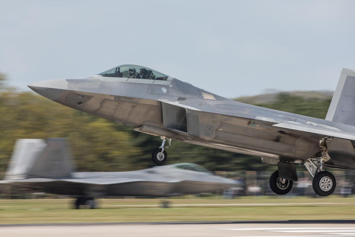 © Harry Measures - Lockheed F-22A Raptor - F-22 Raptor Deployment to RAF Lakenheath