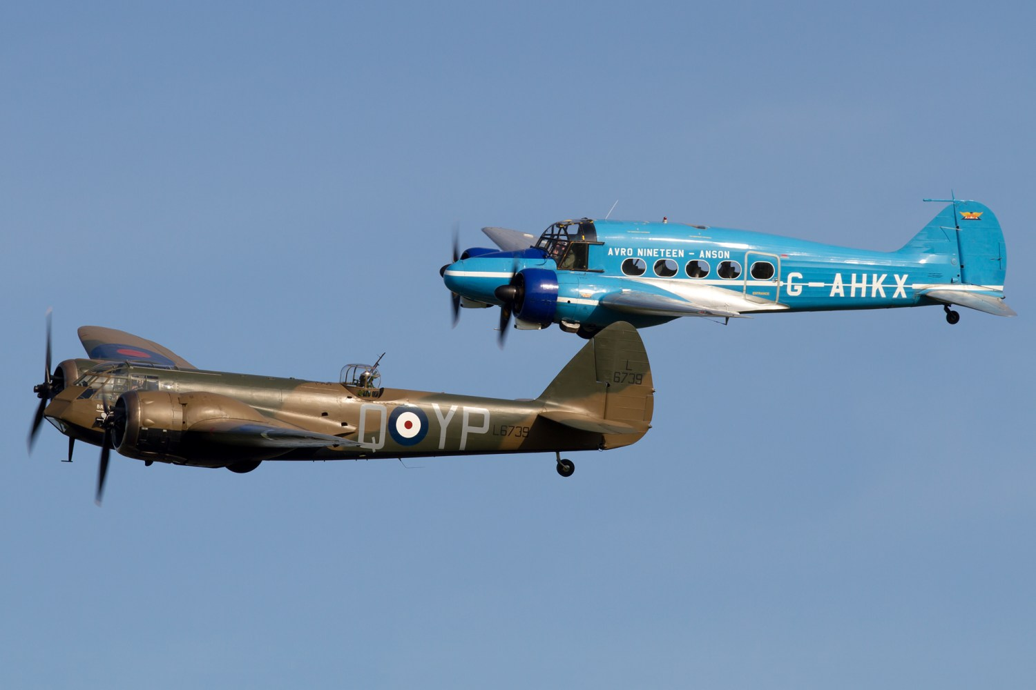 © Michael Lovering - Bristol Blenheim Mk.I and Avro 19 - Shuttleworth Season Premiere Airshow 2016